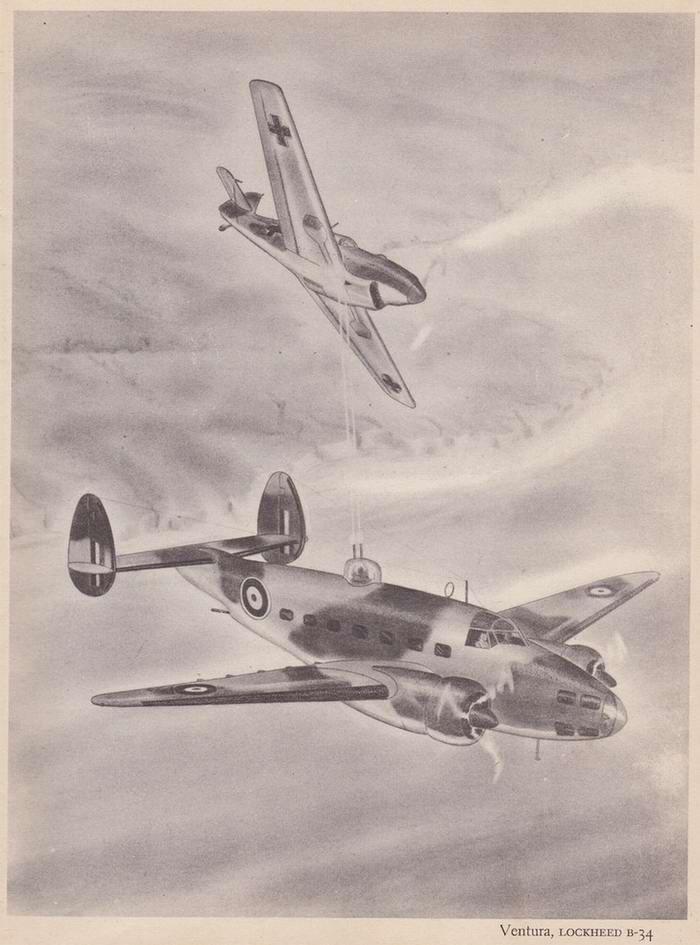 Lockheed B-34 Ventura - бомбардировщик и патрульный самолет