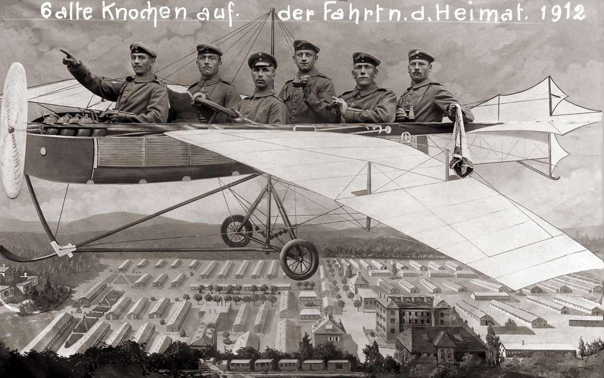 Художественные фоны для фотографий авиационной и воздухоплавательной тематики 1910 - 1930-х годов (1)