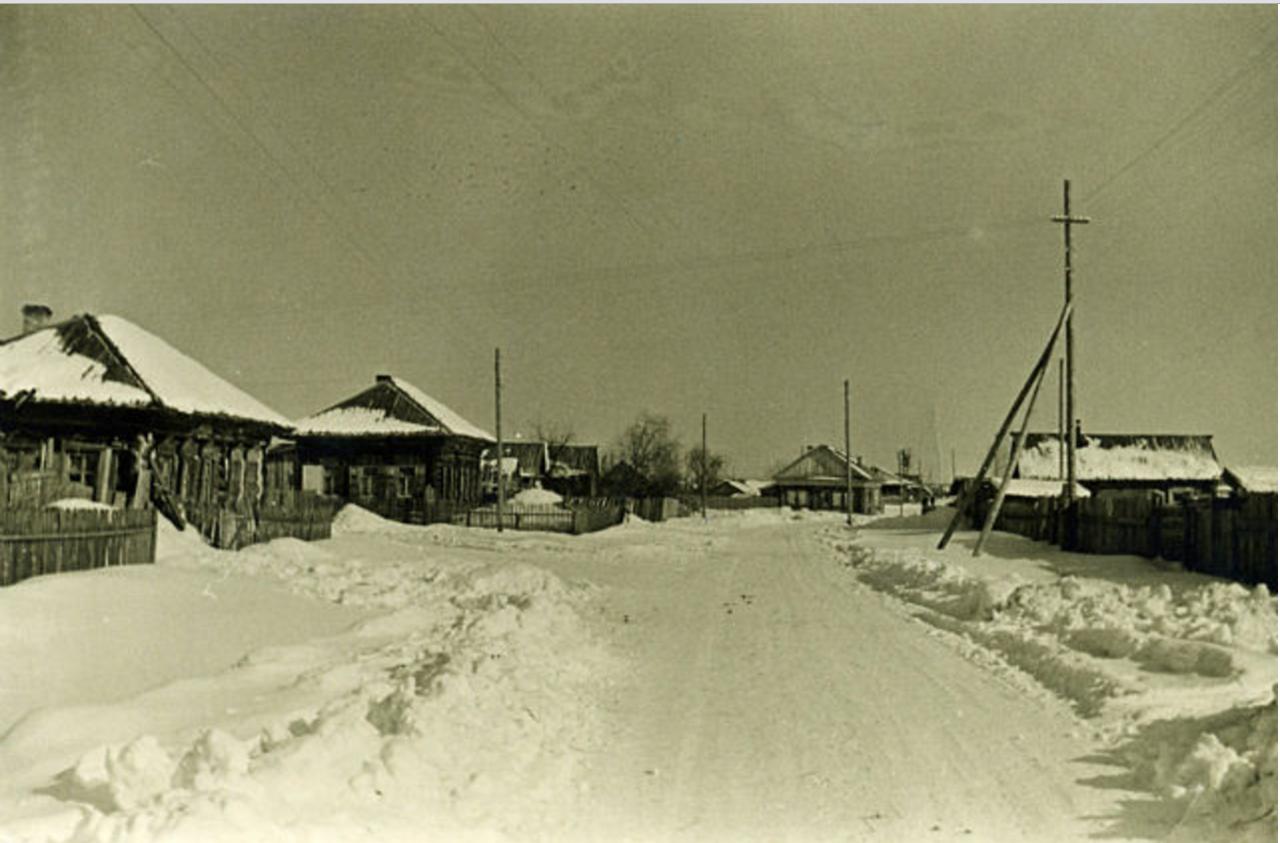 Улица Даурска зимой