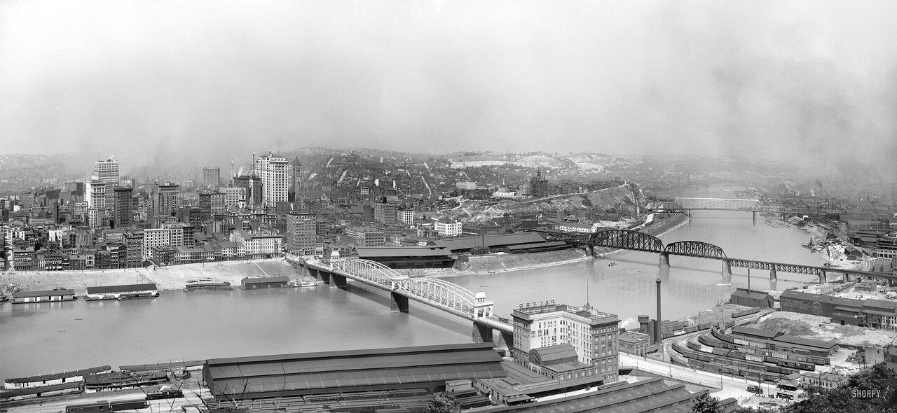 1905. Панорама Питтсбурга с Горы Вашингтона
