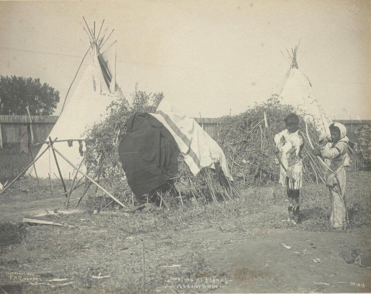 Стрельба по пенни. 1899