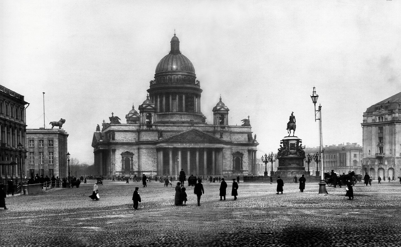 Вид на собор преподобного Исаакия Далматского. 1902-1910