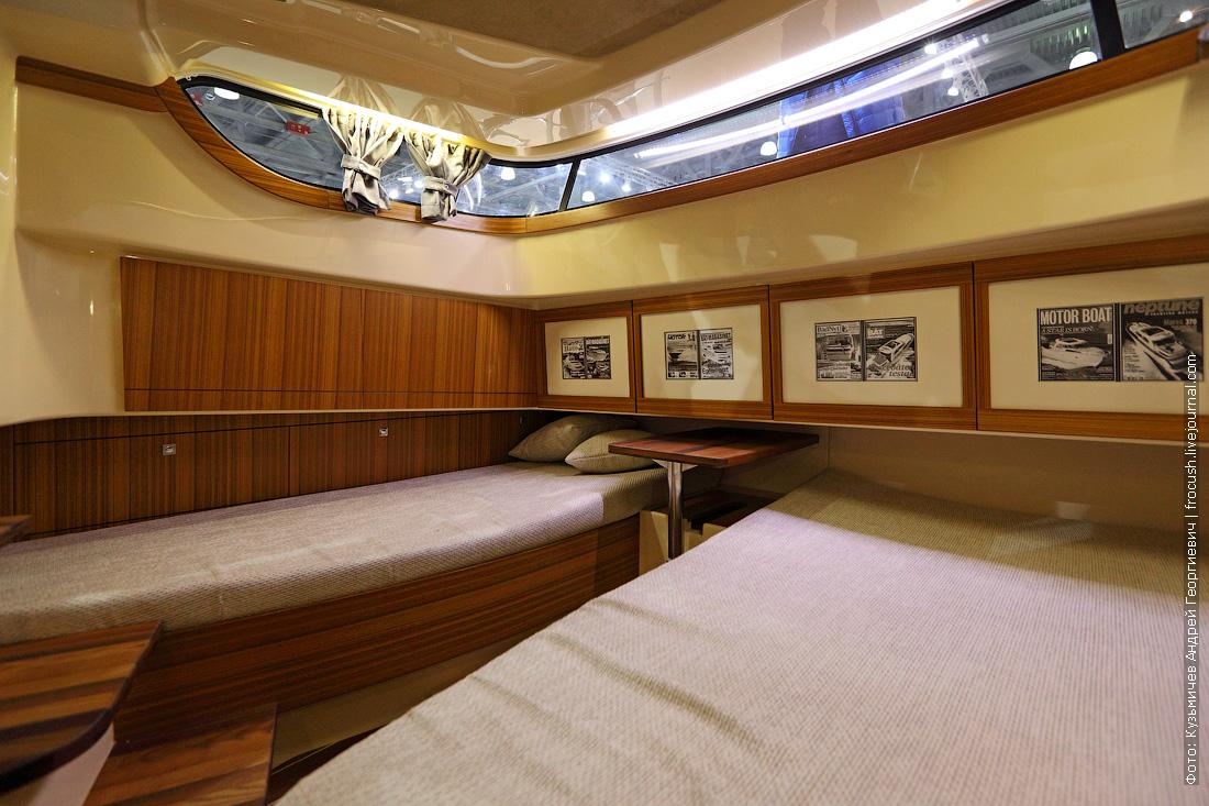 Marex 370 Aft Cabin Cruiser выставка катеров и яхт 2015 каюта фотография интерьеров яхты