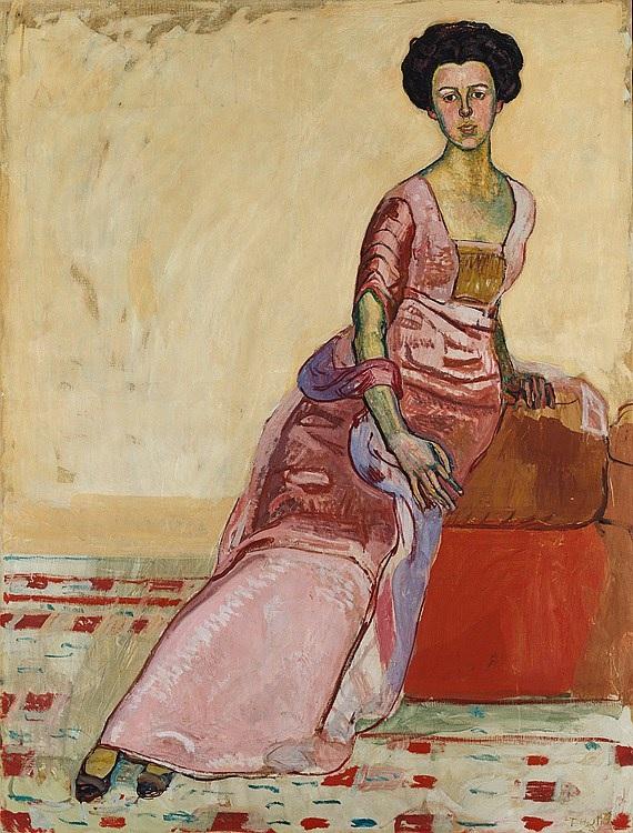 Портрет Гертруды Мюллер, 1911, Фердинанд Ходлер(1853-1918)