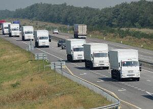 Гуманитарная помощь из России уже пересекла границу с Украиной
