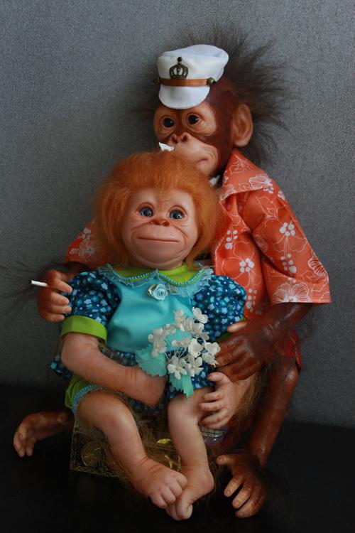 reborn animals, мартышка, reborn, обезьянка, обезьянка - реборн