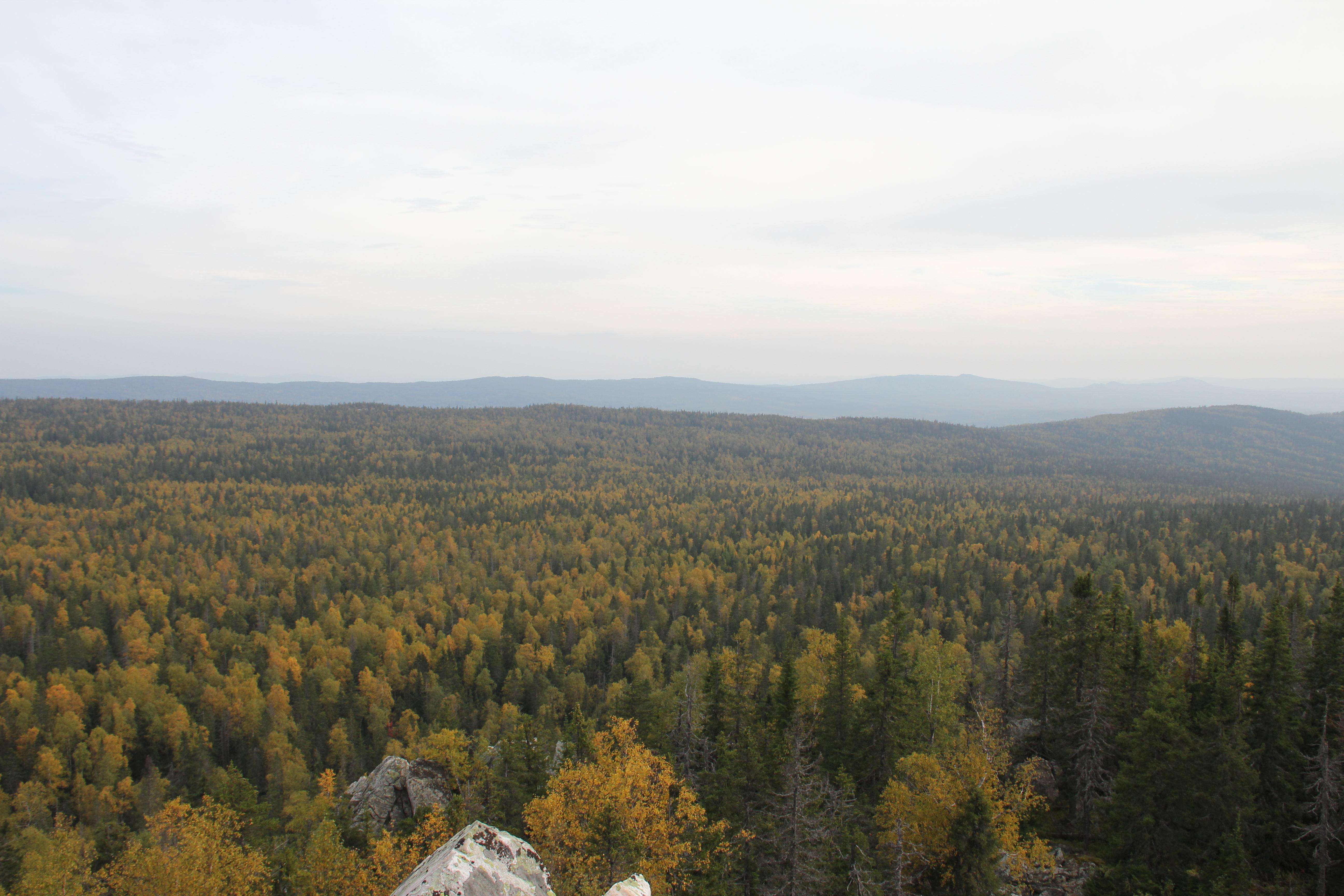 Назаднем плане— хребет Уралтау