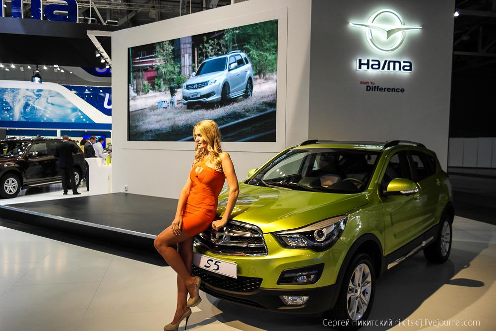 Девушки автосалона ММАС-2014 - часть вторая