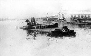 Подводная лодка Дельфин после аварии 05.05.1905г.