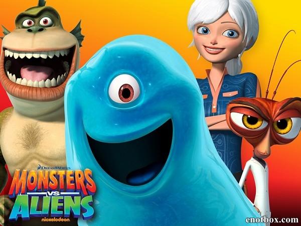 Монстры против Пришельцев (1 сезон: 1-26 серии из 26) / Monsters vs. Aliens / 2013 / ДБ / WEB-DLRip / WEB-DL (720p)