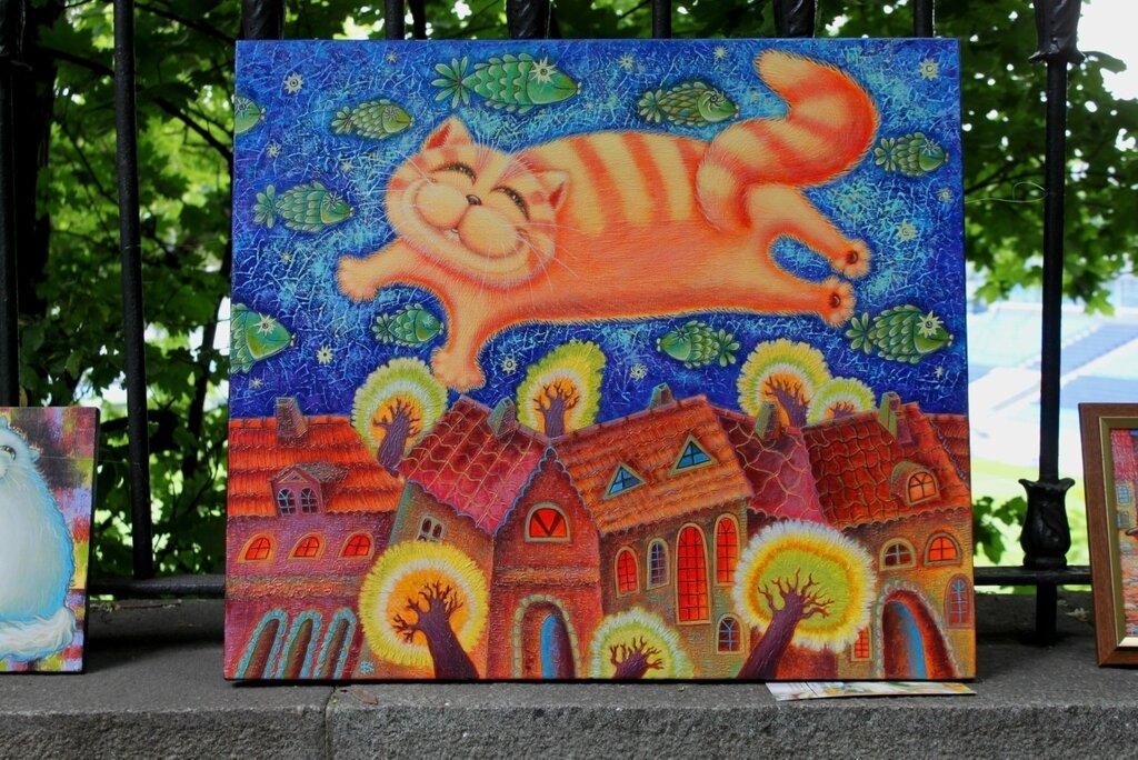 Живопись на ограде стадиона Динамо