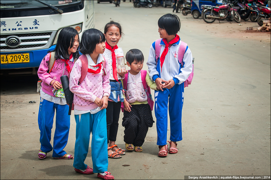 Бетонная деревня в Китае