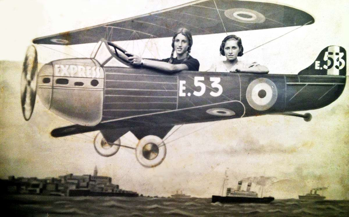 Художественные фоны для фотографий авиационной и воздухоплавательной тематики (34)