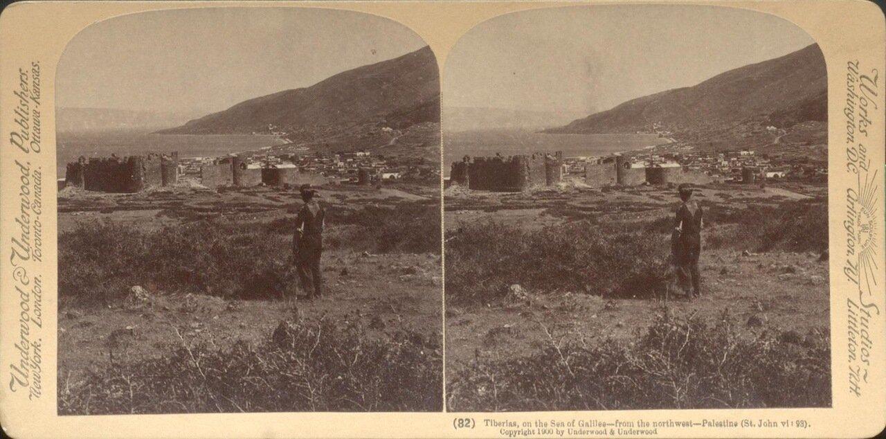 Тверия. На берегу Кенерета, вид с северо-запада. 1900