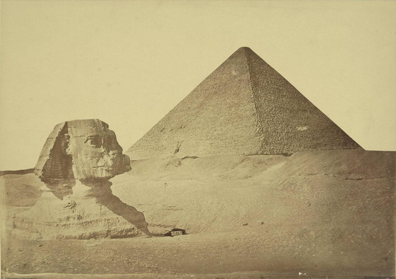 Пирамида Хефрена и Сфинкс. 1889