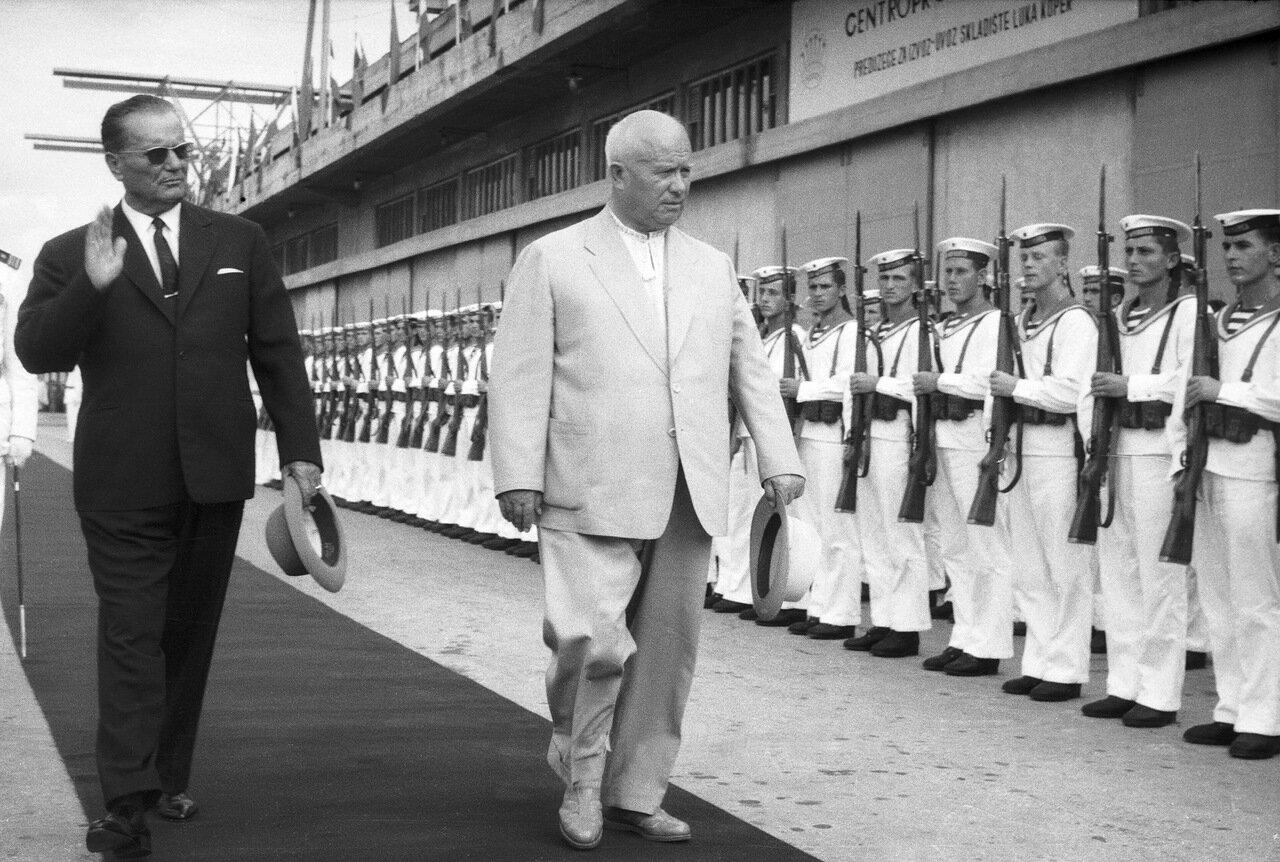 1963. Визит Никиты Хрущева в Югославию