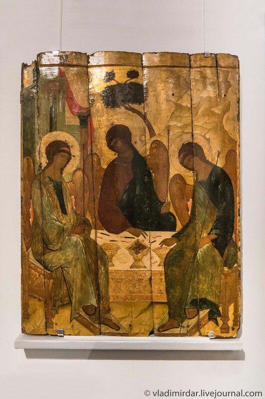 Икона «Троица Ветхозаветная». Москва. Начало XVI века.