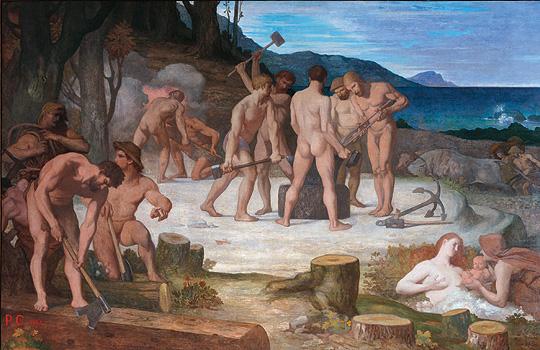 Пюви де Шаванн ,  Труд,(Работа) 1863г.
