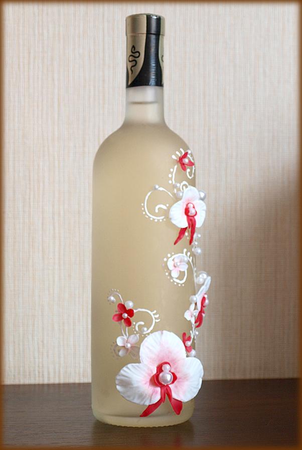 свадебное шампанское, орхидея