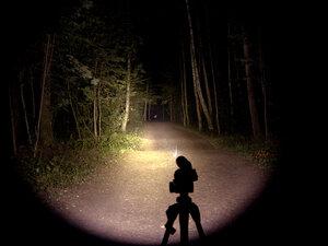 Подствольный охотничий фонарь - EagleTac T200C2 NW XM-L2 T6 светит так: Средний режим, iso 200