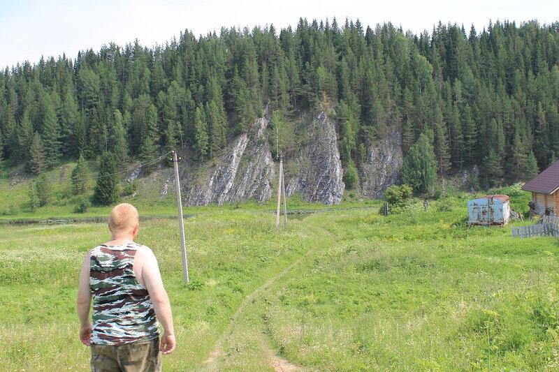 Деревня Мартьяново на Чусовой.
