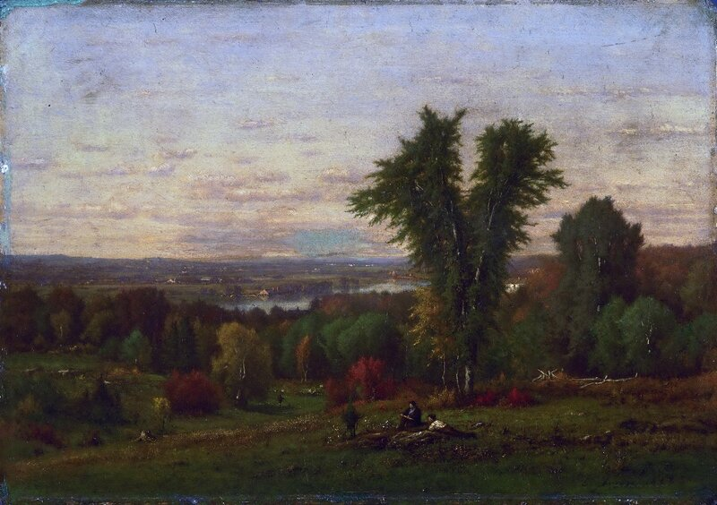 American, 1825-1894 - Landscape near Medfield, Massachusetts