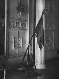 Французское знамя армии Наполеона III (1852-1871гг.) ,выставленное в посольстве.