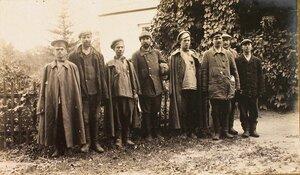 Группа нижних чинов, бежавших из германского плена.