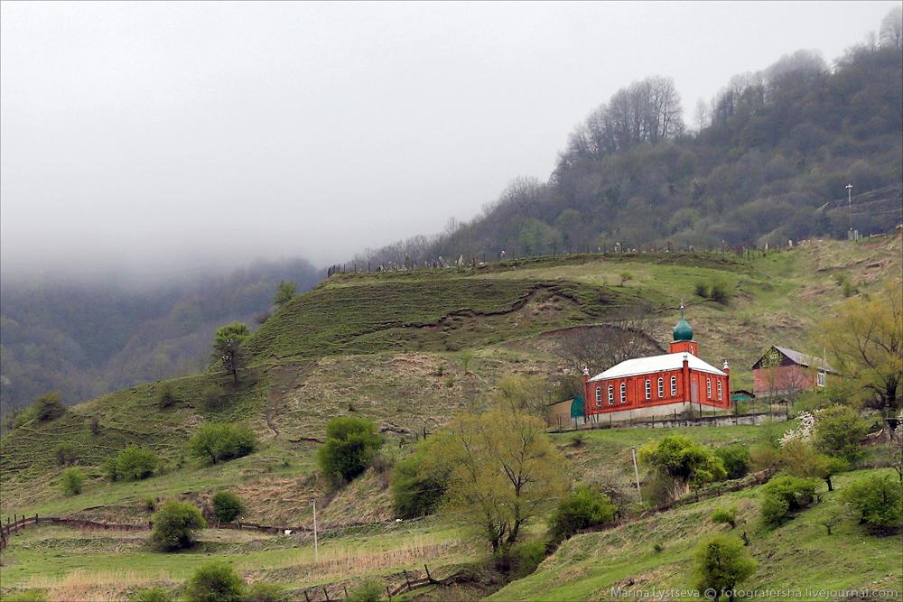 В горах Чечни