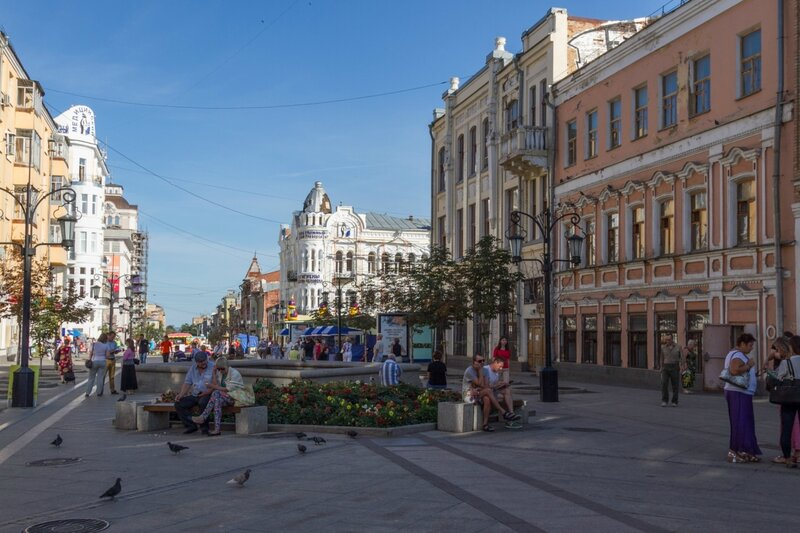 Пешеходная Ленинградская улица, Самара