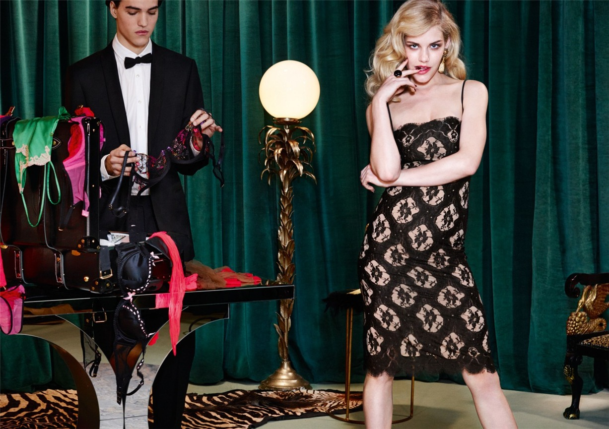 Ashley Smith, Dioni Tabbers by Christian Larson for Agent Provocateur fall/winter 2014/15 -Chii-Chi