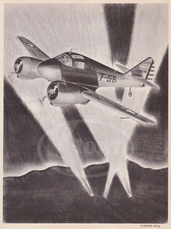 Curtiss AT-9 - учебно-тренировочный самолет