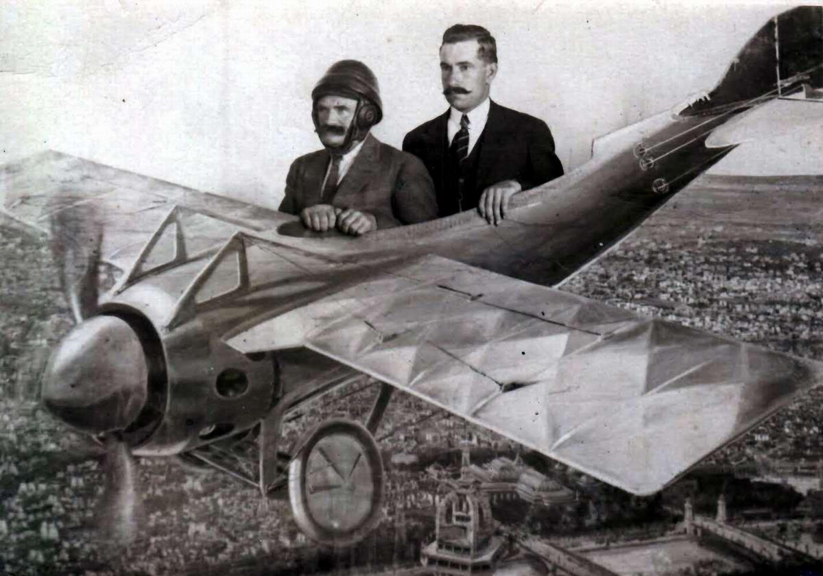Художественные фоны для фотографий авиационной и воздухоплавательной тематики (33)