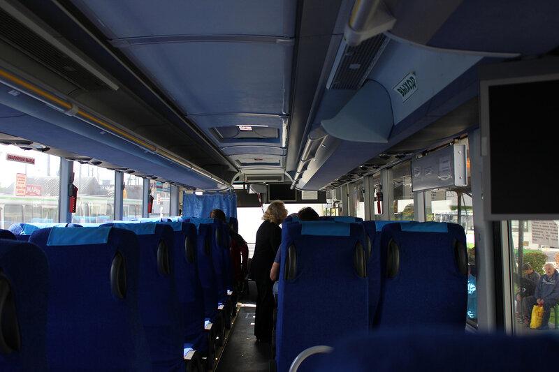 В салоне автобуса Шаховская-Ржев