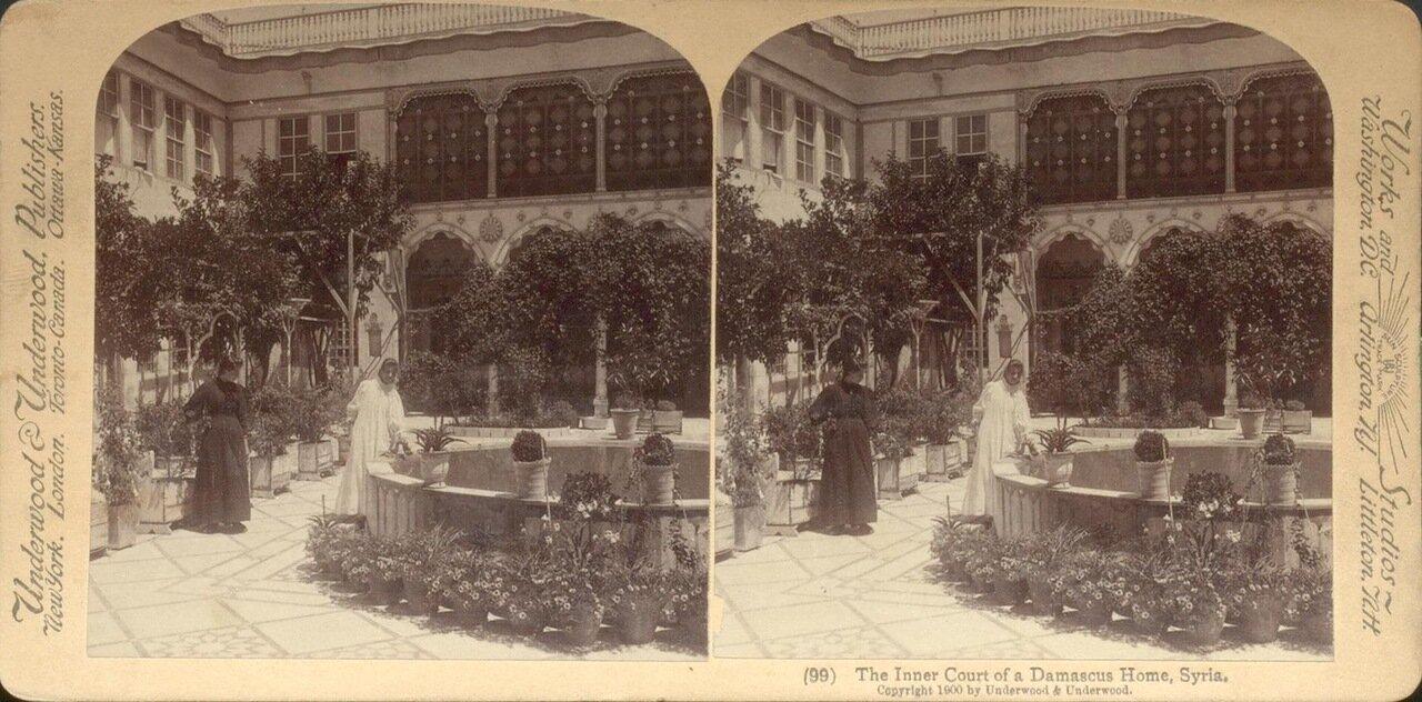 Сирия. Внутренний двор дома в Дамаске. 1900