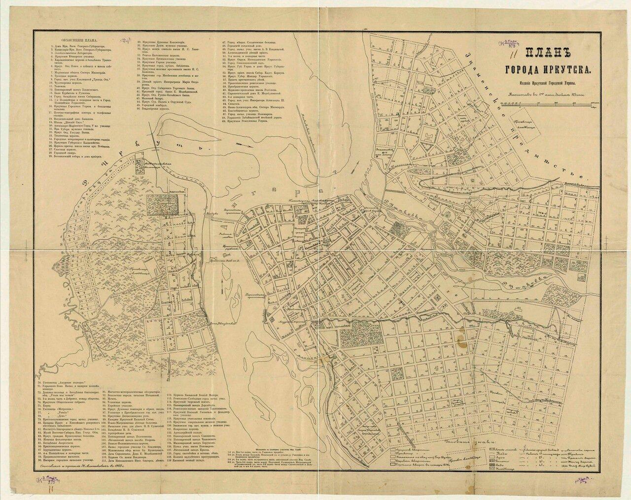 План города Иркутска