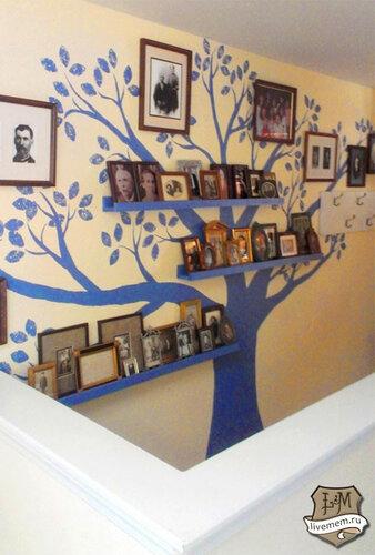 Фамильное древо семьи на стене своими руками