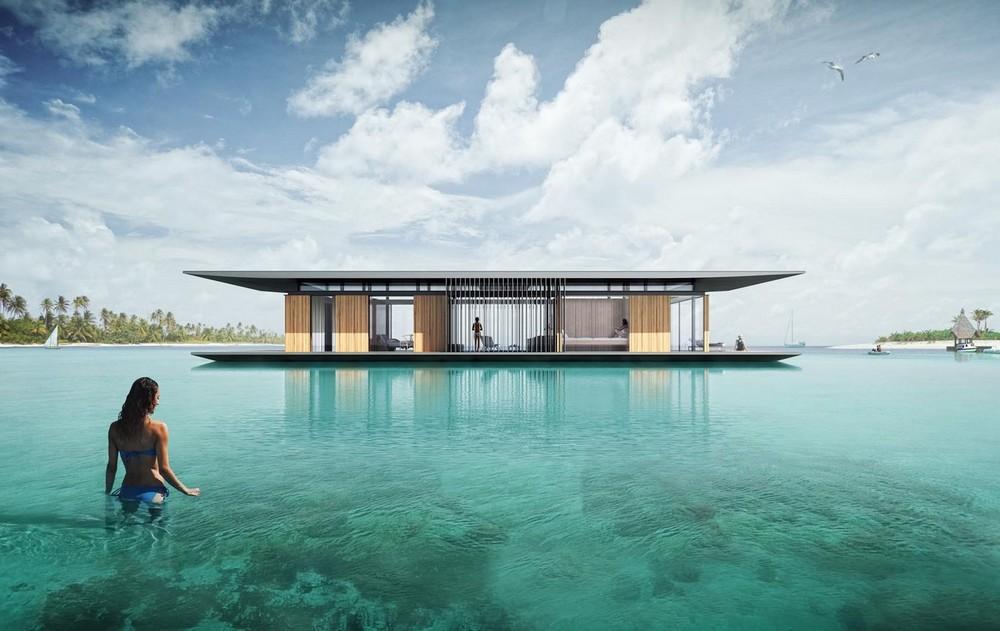 Оригинальные дома на земле и на воде