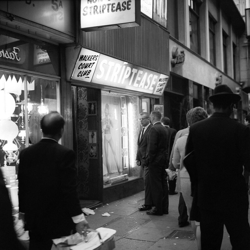 London Scenes - Soho - Strip-Clubs - 1966