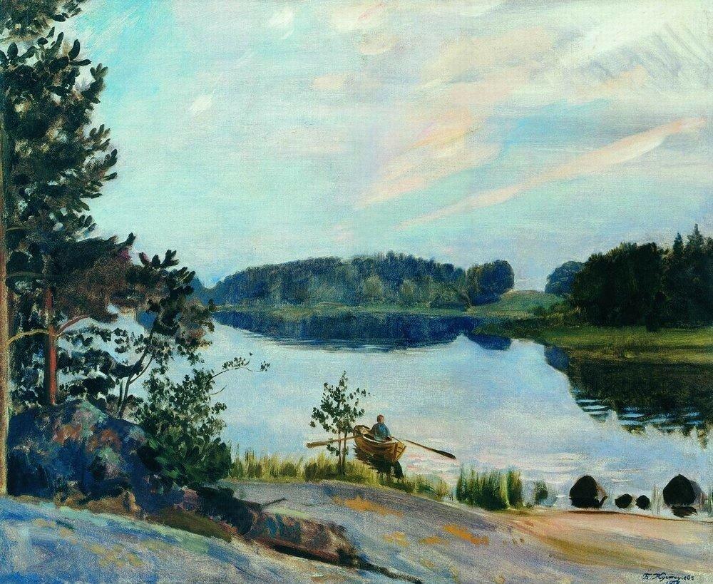 Лесное озеро в Конкола. 1917.jpg