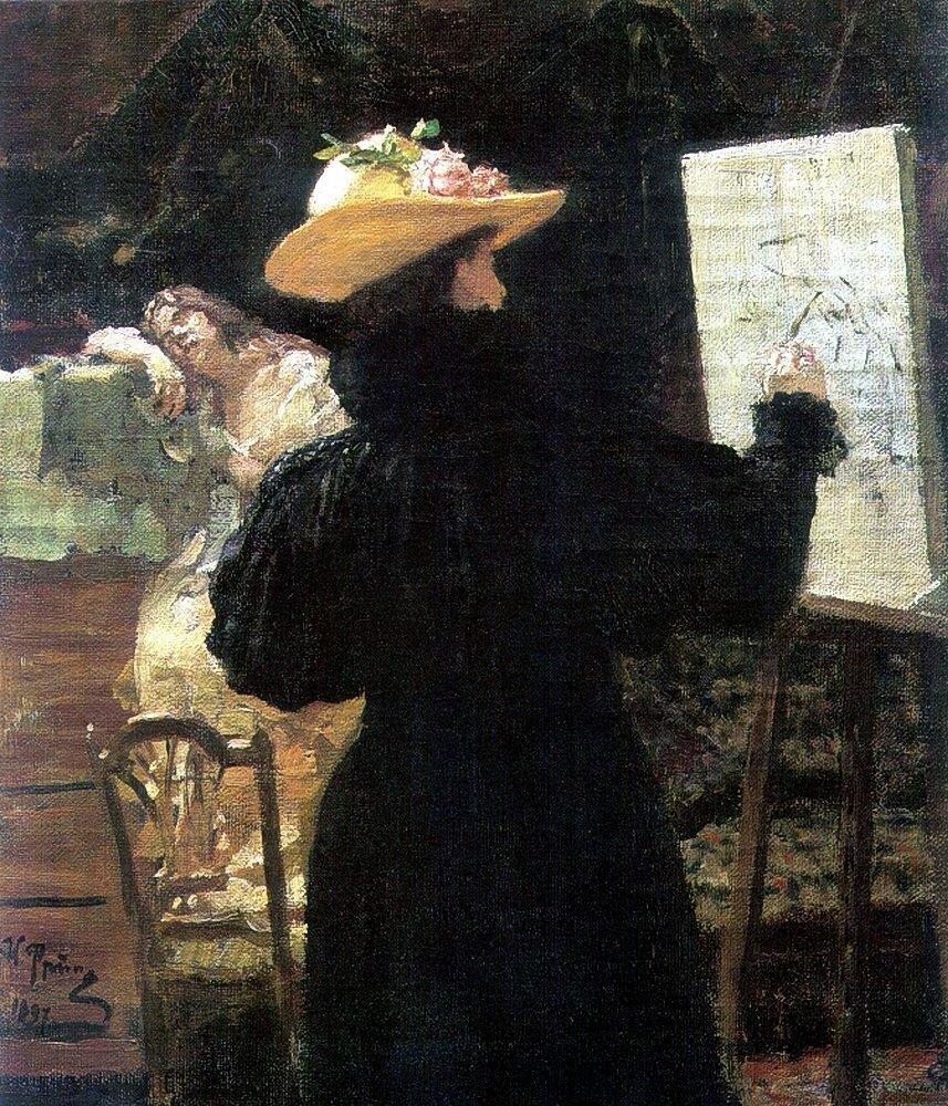 М.К.Тенишева за работой. 1897.jpg