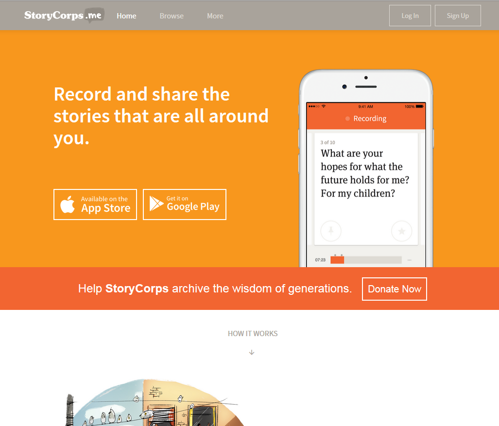 Storycorps: создаем истории
