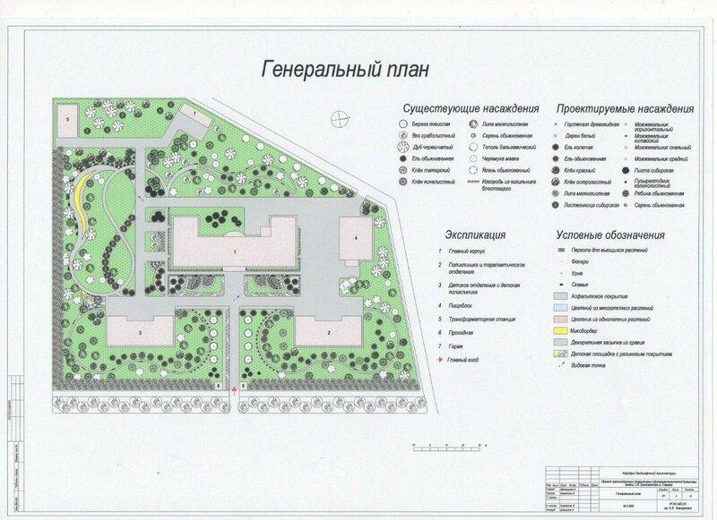 Проект реконструкции территории офтальмологической больницы имени Т.И. Ерошевского