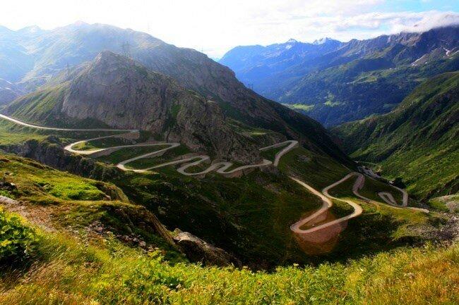Перевал Сен-Готард, Альпы, дорога из Италии в Швейцарию