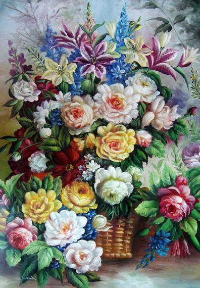 намальовані квіти
