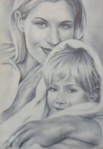 портрет матери с ребенком