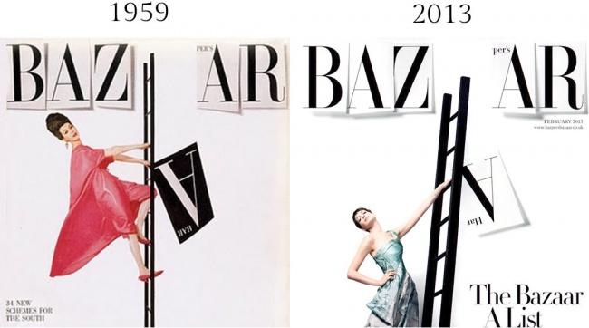 Журнал Harper's Bazaar с1867 по1930 годы назывался Harper's Bazar, иРичард Аведон обыграл эту люб