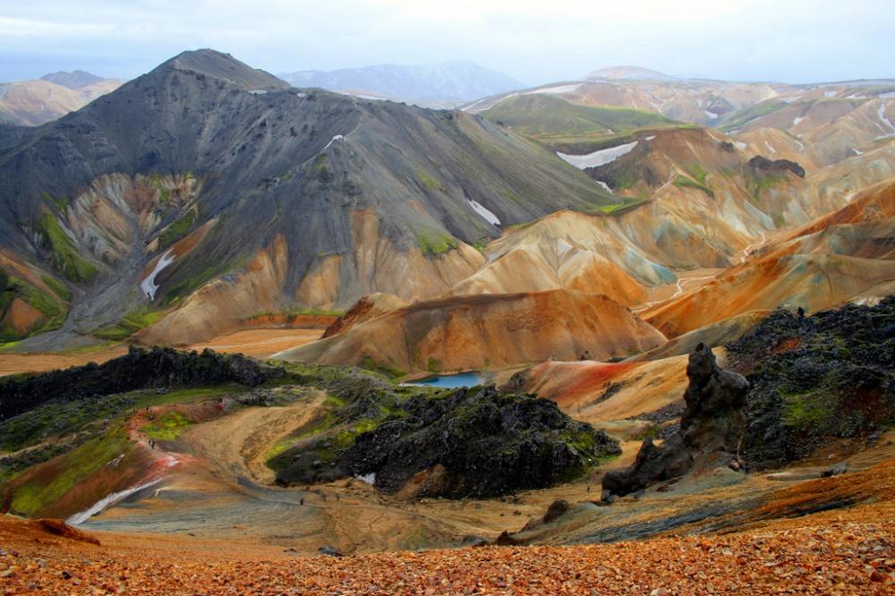 Территория парка расположена вюжной части Исландии уподножия вулкана Гекла.