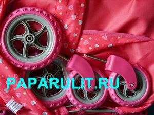 Кукольная коляска с сердечками 8031.jpg