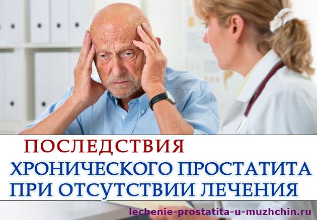 Последствия не лечения простатита